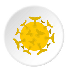 round viral bacteria icon circle vector image