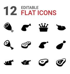 12 roast icons vector