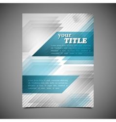 Abstract business brochure template geometric vector