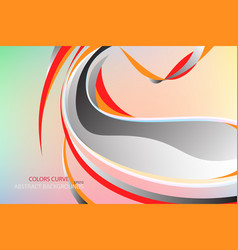 Abstract colors curve scene vector