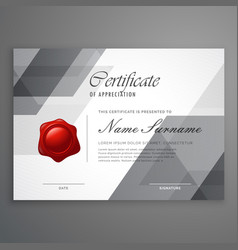 abstract geometric shape certificate design vector image