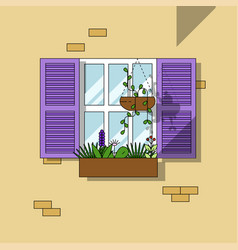 architectural element window background vector image