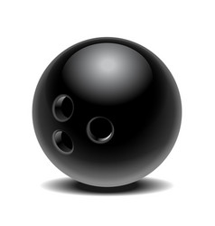 black glossy bowling ball isolated on white vector image