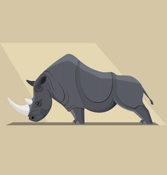 black rhinoceros vector image