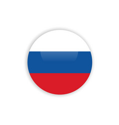 Button russia flag template design vector