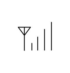 Cellular network signal icon vector
