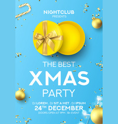 Christmas party flyer invitation vector