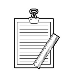 clipboard paper with rule vector image