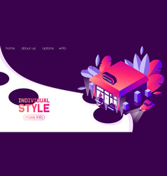 concept landing page or banner for boutique vector image