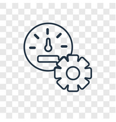 control panel concept linear icon isolated on vector image