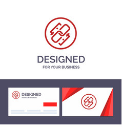 creative business card and logo template link vector image