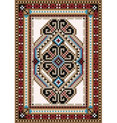 Design in the frame for carpet vector image