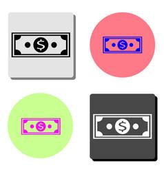 dollar money flat icon vector image