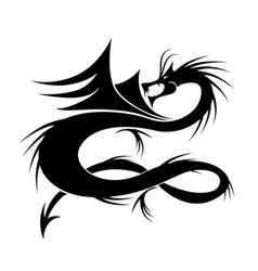 Dragon tattoo for your design vector