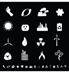 Eco icons vector