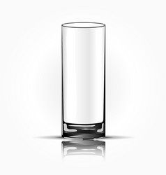 empty drinking glass cup isolated vector image