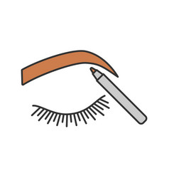 Eyebrows shaping color icon vector