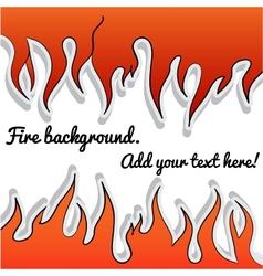 Fire-sticker background vector