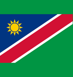 Flag in colors of namibia image vector