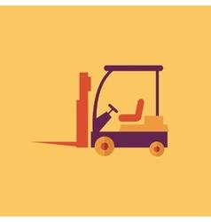 Forklift Transportation Flat Icon vector