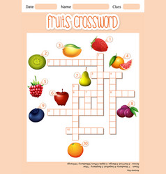 Fruit cross word concept vector