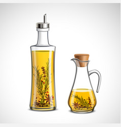 Glass bottles set vector