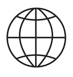 globe icon on white background globe sign flat vector image