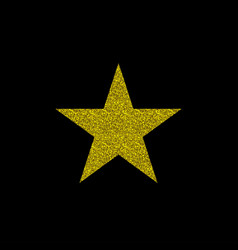 Golden star symbol vector