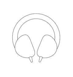 Headphones path vector image