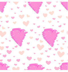 heart abstract pattern background love doodle vector image