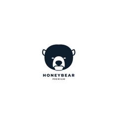 Honey bear head logo icon design vector