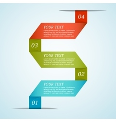 Infographic ribbon template vector image