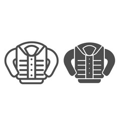 Jacket line and glyph icon clothing vector