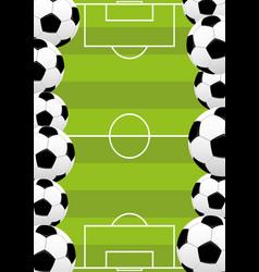 Leather soccer balls vector