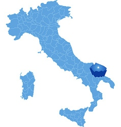 Map of Italy Bari province vector image