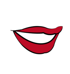 Mouth woman lips makeup lipstick vector