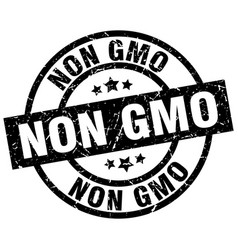Non gmo round grunge black stamp vector