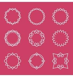 Outline badges and emblems frames vector image