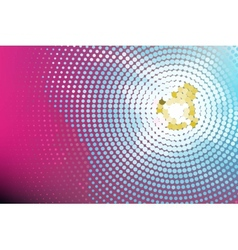 Pink dot wall lighted vector