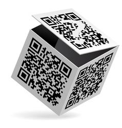 QR code on box vector image