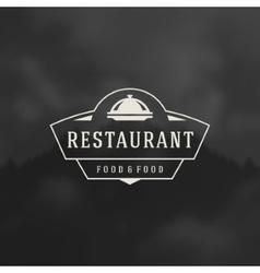 Restaurant Cloche Design Element vector
