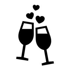 romantic love symbol vector image