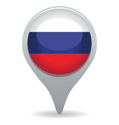 Russian flag pointer vector