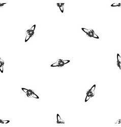 Saturn pattern seamless black vector