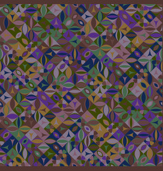 Seamless colorful random curved shape pattern vector