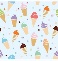 seamless icecream pattern vector image