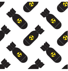 seamless pattern falling bombs vector image