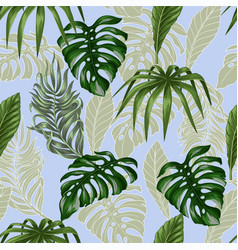 seamless pattern with tropical banana palm vector image