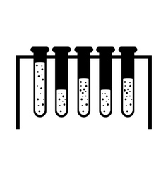 Silhouette test tube icon microbiology equipment vector