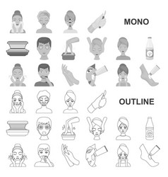 Skin care monochrom icons in set collection for vector